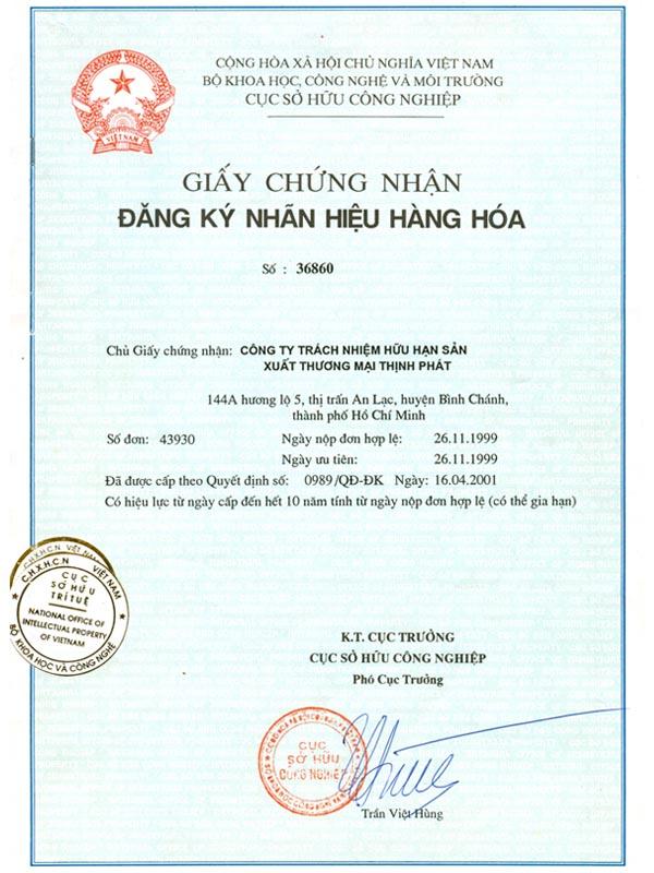 giấy chứng nhận đăng ký nhãn hiệu hàng hóa