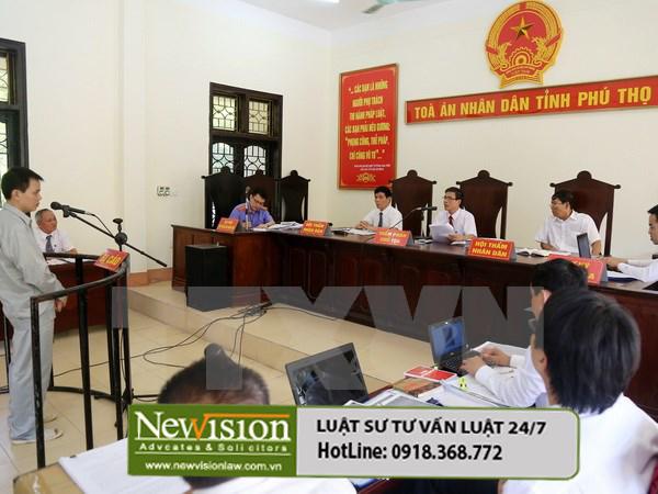 Luật sư Tuấn tham gia vụ án dân sự tại Phú Thọ