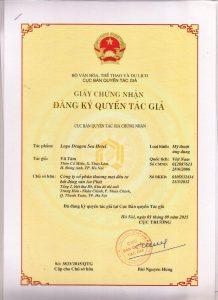 Giay chung nhan Quyen tac gia Logo Dragon Sen Hotel