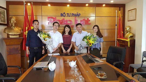 Luật sư Tuấn tại Báo Doanh nhân và Pháp Luât Việt Nam