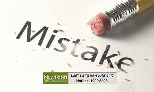 Các lỗi thường gặp khi đăng ký nhãn hiệu