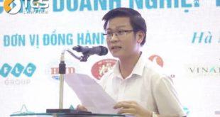Luật sư Nguyễn Văn Tuấn - Hãng luật TGS phát biểu tại Gala Báo chí đồng hành cùng doanh nghiệp